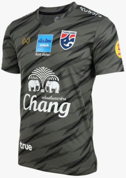 2020 Thailand National Team Thai Football Soccer Jersey Shirt Player Version Black Training Full Sponsor