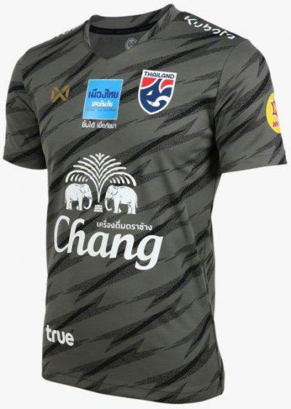 2020 Thailand National Team Thai Football Soccer Jersey Shirt Player Version Black Training Full Sponsor