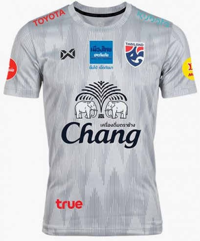 2020 Thailand National Team Thai Football Soccer Jersey Shirt Player Version Gray Training Full Sponsor