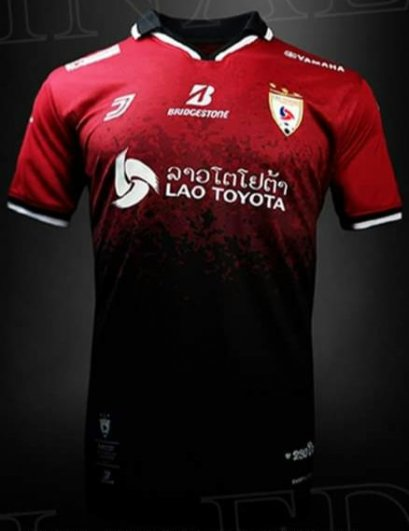 Limited Edition Lao Toyota FC Chanthabouly Authentic Laos Football Soccer League Jersey Red Player
