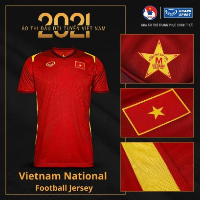 2021 Vietnam National Team Genuine Official Football Soccer Jersey Shirt Red Home Player Edition