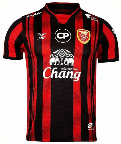 2020 Police Tero Authentic Thailand Football Soccer League Jersey Shirt Home Red