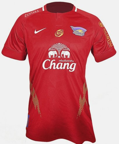 2020 Nike Chonburi FC Authentic Thailand Football Soccer League Jersey Shirt Third Red