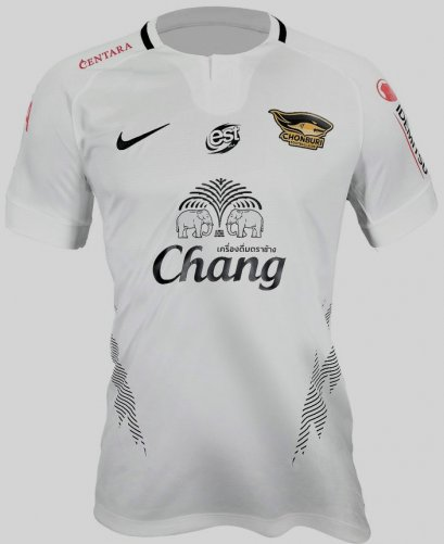 2020 Nike Chonburi FC Authentic Thailand Football Soccer League Jersey Shirt Away White