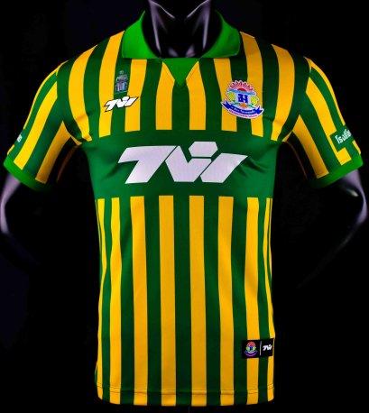 2021 Debsirin Phukhae Authentic Thailand Football Soccer League Jersey Shirt Green Yellow Player