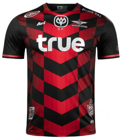 2021 Bangkok United Authentic Thailand Football Soccer League Jersey Shirt Red Home Player Edition
