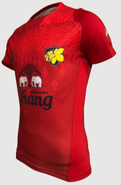 Thailand National Rugby Team Jersey Shirt Player Edition Away Red
