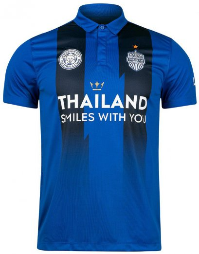 2020 LCFC Leicester City FC x Buriram United Thailand Football Soccer League Jersey Shirt Thailand Smile with You Blue