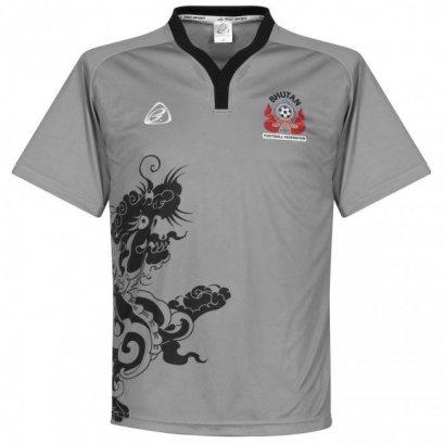 Bhutan National Team Genuine Official Football Soccer Dragon Jersey Shirt Gray