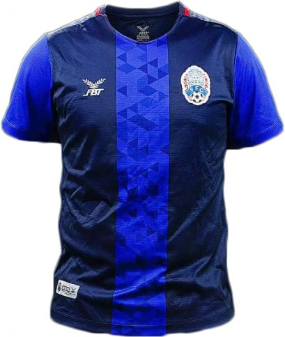 Cambodia National Team Football Soccer Authentic Genuine Jersey Shirt Blue Player Edition