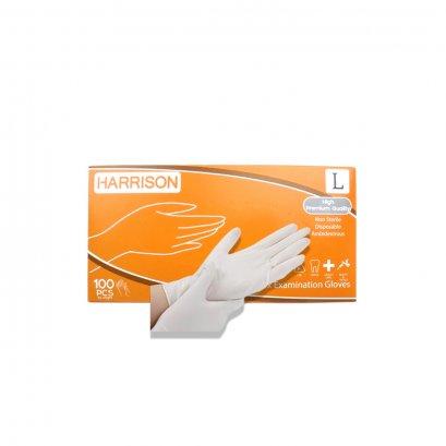 ถุงมือยาง,ถุงมือแพทย์ HARRISON (แบบมีแป้ง) ไซส์ L