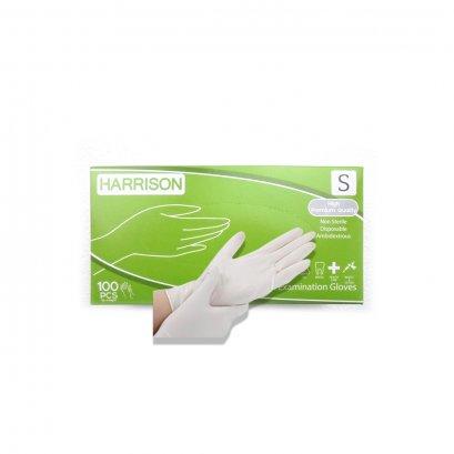 ถุงมือยาง,ถุงมือแพทย์ HARRISON (แบบมีแป้ง) ไซส์ S