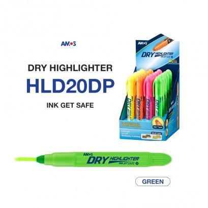 ปากกาเน้นข้อความ Amos Dry Highlighter (สีเขียว)