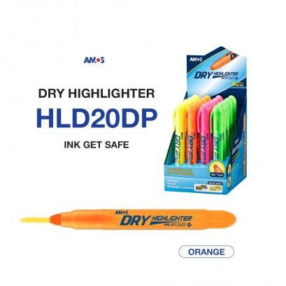 ปากกาเน้นข้อความ Amos Dry Highlighter (สีส้ม)