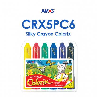 Amos Colorix Silky Crayon Classic (6 สี) ขนาด 12 mm