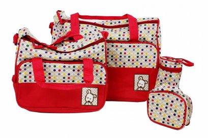 กระเป๋าคุณแม่ กระเป๋าใส่ขวดนม เซ็ต 4 ชิ้น   เกรดA คุณภาพดีเยี่ยม