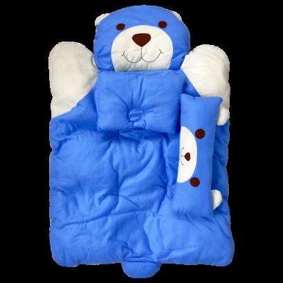 ที่นอนปิคนิคสำหรับเด็ก 3 ชิ้น  ลายหมีน้อย ขนาด 68*110 ซม. คุณภาพดี เกรดA