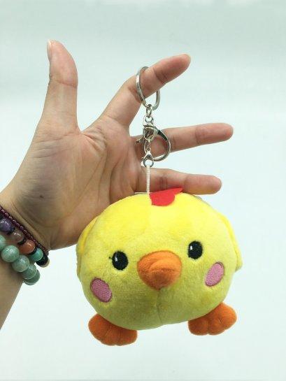 พวงกุญแจตุ๊กตา เจ้าไก่น้อย สีเหลือง  น่ารักมาก ขนาด 14 ซม. พร้อมส่ง