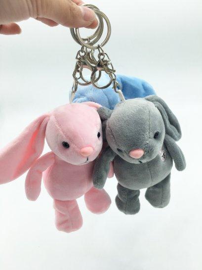 พวงกุญแจตุ๊กตา กระต่ายน้อย 3 สี น่ารักมาก ขนาด 12 ซม. พร้อมส่ง