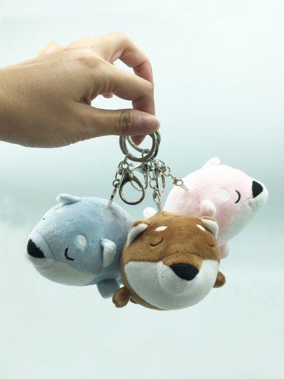 พวงกุญแจตุ๊กตา หมาชิบะ 3 สี  น่ารักมาก ขนาด 14 ซม. พร้อมส่ง