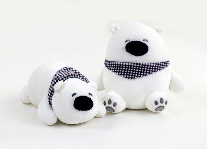 ตุ๊กตาหมีผูกผ้าพันคอ นุ่มนิ่ม 20 ซม.