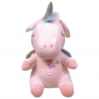 ตุ๊กตายูนิคอร์นหูดุ๊กดิ๊ก ขนาด 60 ซม. สีชมพู