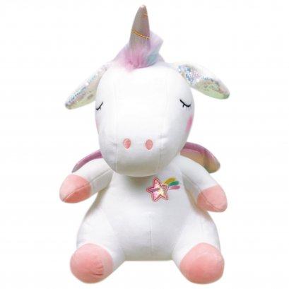 ตุ๊กตายูนิคอร์นหูดุ๊กดิ๊ก ขนาด 60 ซม. สีขาว