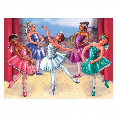 [100ชิ้น] รุ่น 1375 จิ๊กซอ100 ชิ้น รุ่นการแสดงบัลเลต์ Melissa & Doug Ballet Recital Jigsaw Puzzle 100 Pcs รีวิวดีใน Amazon USA ต่อแล้วขนาด 48 x 36 cm  ของเล่น มาลิซ่า 5 - 8 ขวบ