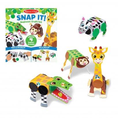 Melissa & Doug รุ่น 30190 Snap It! Beginner Craft Kit - Safari  ชุด DIY  ประดิษฐ์สัตว์ด้วย Snap-it ทุกอย่างจะลงล๊อก สแน๊บเข้ารู