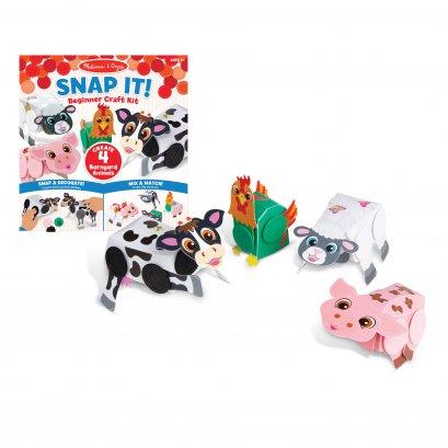 Melissa & Doug รุ่น 30196 Snap It! Beginner Craft Kit - Barnyard Animals ชุด DIY ประดิษฐ์สัตว์ด้วย Snap-it ทุกอย่างจะลงล๊อก สแน๊บเข้ารู (bart3)