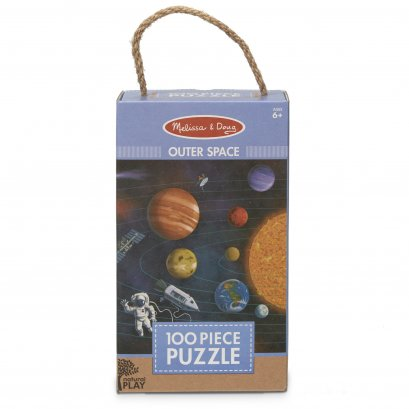 Melissa & Doug รุ่น 31385 Natural Play Puzzle: Outer Space - 100 Pieces จิ๊กซอ 100 ชิ้น  รุ่น อวกาศ เสริมการเรียนรู้สิ่งรอบตัว การคิดแก้ปัญหา และ การมีสมาธิ