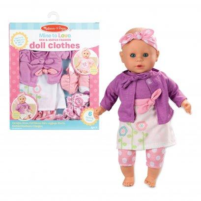 Melissa & Doug รุ่น 31718 Mine to Love Mix & Match Fashion Doll Clothes ชุดแต่งตัวแฟชั่น ตุ๊กตาเบบี๋  เล่นสวมบทบาท