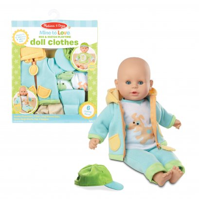 Melissa & Doug รุ่น 31719 Mine to Love Mix & Match Playtime Doll Clothes