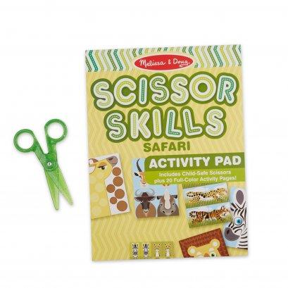 Melissa & Doug รุ่น 32006 Safari Scissor Skills Activity Pad ชุดกรรไกรฝึกตัด รุ่นซาฟารี เสริมทักษะการบังคับมือ การมีสมาธิ และการมีความคิดริเริ่มสร้างสรรค์