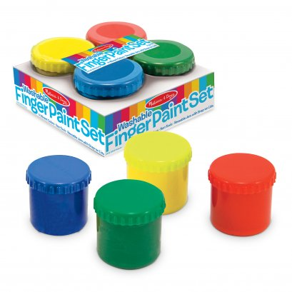 Melissa & Doug รุ่น 4146 สีเพ้นท์มือปลอดสารเนื้อเจล ส่งเสริมการเล่นทางศิลปะ  Finger Paint Set (4 colors)