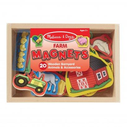 [20ชิ้น] รุ่น 9279 แม่เหล็กรุ่นฟาร์ม Melissa & Doug Animal Magnets รีวิวดีใน Amazon USA  แม่เหล็กทั้งตัว 20 ชิ้น ติดตู้เย็น ติดกระดาน  ของเล่น มาลิซ่า 2 - 5 ขวบ