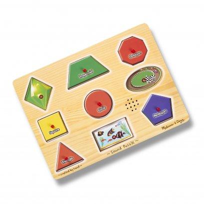 0338 พัซเซิลมีเสียง รุ่นรูปร่าง ส่งเสริมการเรียนรู้ทางสายตาและหูให้สอดคล้องกัน (แทน 0728)  Sound Puzzles Shapes