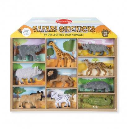 Melissa & Doug รุ่น 593  ชุดสัตว์ซาฟารี 10 ตัว วัสดุคุณภาพดีด้านนอกหุ้มกำมะหยี่ ส่งเสริมทักษะการเรียนรู้เรื่องสัตว์  Safari Sidekicks - 10 Collectible Wild Animals