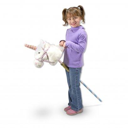Melissa & Doug รุ่น 2181 Play Stick Unicorn ชุดไม้เล่นขี่ยูนิคอร์น ผ้าขนแกะนุ่มพิเศษด้ามไม้แกะสลัก