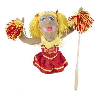 Melissa & Doug รุ่น 2554 Cheerleader Puppet ชุดหุ่นมือพร้อมไม้บังคับ รุ่นเชียร์ลีดเดอร์