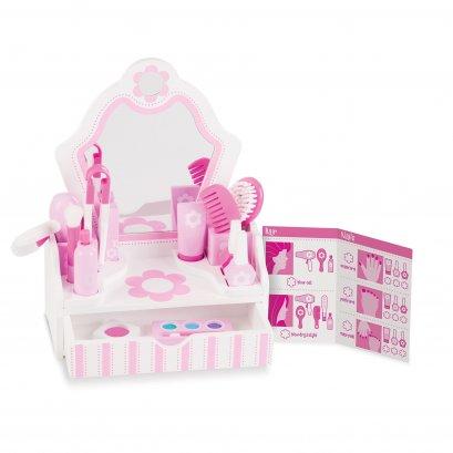 [โต๊ะเครื่องแป้งไม้] รุ่น 3026 ชุดโต๊ะเครื่องแป้งไม้ Melissa & Doug Beauty Salon Play Set รีวิวดีใน Amazon USA ไม่เหมือนใคร ไม่มีเครื่องสำอางค์จริงในชุด