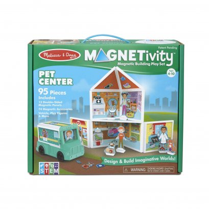 Melissa & Doug รุ่น 30651 Magnetivity Pet Center ชุดต่อแม่เหล็ก 3D รุ่นสัตว์เลี้ยง เสริมจินตนาการและความคิดสร้างสรรค์
