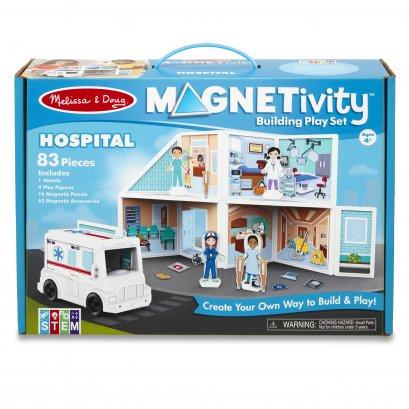 Melissa & Doug รุ่น 30655 Magnetivity Hospital ชุดต่อแม่เหล็ก 3D รุ่นโรงพยาบาล เสริมจินตนาการและความคิดสร้างสรรค์
