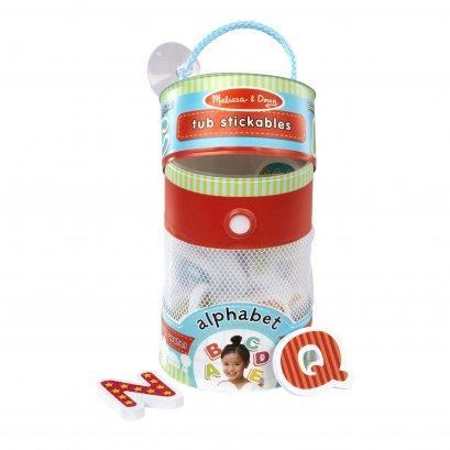 Melissa & Doug รุ่น 31401 Tub Stickables - Alphabet Soft Shapes Bath Toy ชุดตัวติดผนังลอยน้ำได้ รุ่น A – Z มี 27 ชิ้น