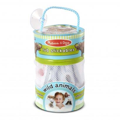 Melissa & Doug รุ่น 31404 Tub Stickables - Wild Animals Soft Shapes Bath Toy ชุดตัวติดผนังลอยน้ำได้ รุ่นสัตว์ มี 20 ชิ้น