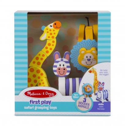 Melissa & Doug รุ่น 3206 Safari Grasping Toys ชุดของเล่นเด็กเล็ก รุ่นซาฟารี เสริมพัตนาการด้านการบังคับมือให้สอดคล้องกับสมองของเด็ก