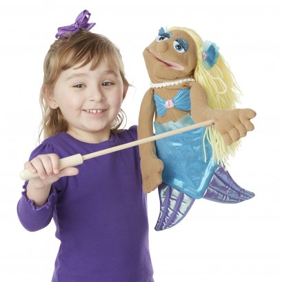Melissa & Doug รุ่น 3896 Shelly Seashore Mermaid Puppet หุ่นมือพร้อมไม้บังคับ รุ่นนางเงือก