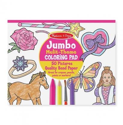 Melissa & Doug รุ่น 4225 Jumbo coloring pad - pink ชุดสมุดระบายสีจั้มโบ้ รุ่นเด็กผู้หญิง ช่วยส่งเสริมการเรียนรู้ของเด็กที่มีความสนใจการระบายสี