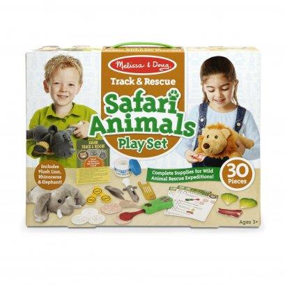 Melissa & Doug รุ่น 8543 Safari Animal Playset ชุดอุปกรณ์ดูแลสัตว์ซาฟารี 30 ชิ้น