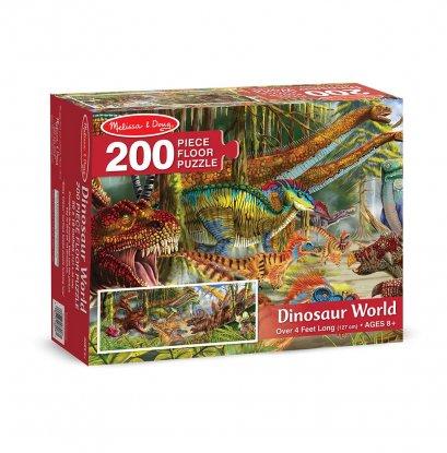 Melissa & Doug รุ่น 8908 Dinosaur World Floor Puzzle (200 pc) ชุดจิ๊กซอกระดาษ 200 ชิ้น รุ่นไดโนเสาร์ ส่งเสริมทักษะการคิดแก้ปัญหา และการมีสมาธิ